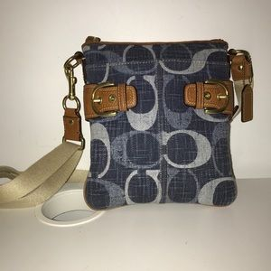 Authentic Blue Coach Crossbody Bag